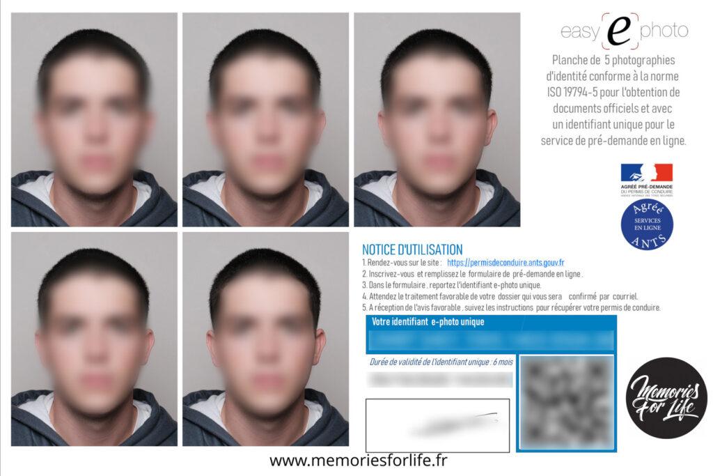 Photo d'identité ANTS Permis de Conduire à Pau